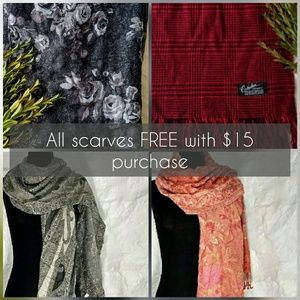 Free scarf with purchase ♥️